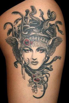Medusa tattoo by Natalia Borgia, New York