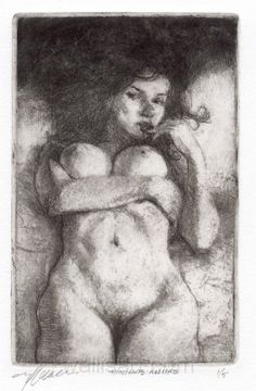 Kai Fine Art is an art website, shows painting and illustration works all over the world. Wallis, Vintage Photography, Erotic Art, Female Bodies, Painting & Drawing, Printmaking, Fine Art, Drawings, Illustration