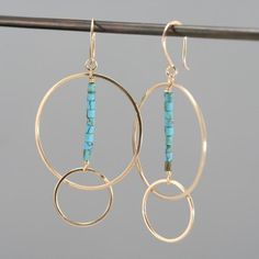 Gold filled hoop earrings, turquoise and gold earrings, gold hoops, Rachel Wilder Handmade Jewelry – hoopearrings Tiny Stud Earrings, Opal Earrings, Gold Hoop Earrings, Gold Hoops, Diy Earrings, Feather Earrings, Turquoise Earrings, Unique Earrings, Pearl Necklace