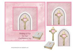 Arch Cross Confirmation Card female on Craftsuprint - Add To Basket!