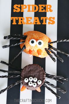 Halloween Spider Treats on The Crafting Chicks