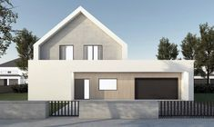 DOM.PL™ - Projekt domu NA FX-60 CE - DOM NA1-44 - gotowy koszt budowy Architecture Design, Sweet Home, Shed, Floor Plans, Outdoor Structures, House Design, Flooring, Mansions, House Styles