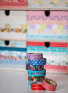 Washi Tape Drawers by melanie gray augustin (Kimono Reincarnate)