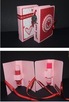 Lip Balm Holder Card cute idea for loop bag gifts kids bday