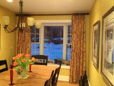 Simple window treatments for a bay window