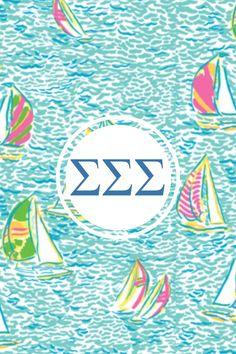 Sigma sigma sigma Lilly monogram iPhone background #sorority #monogram_app