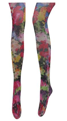 Watercolor Floral Tights, $23   39 Pairs Of Statement Tights Just In Time For Fall