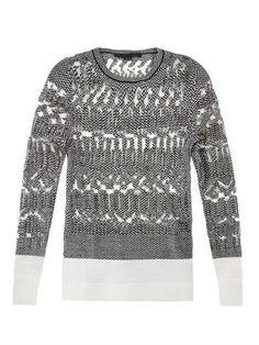 Burnout Fair Isle knit sweater | Alexander Wang | MATCHESFASHI...