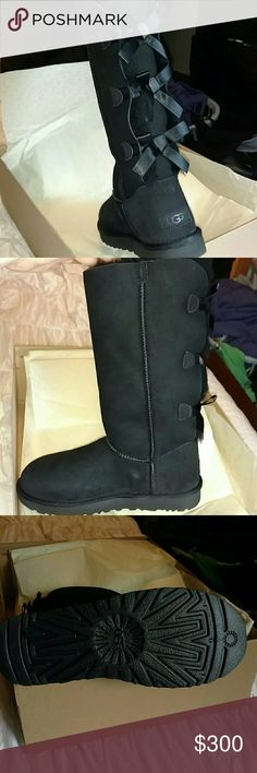 Brand ?? Ugg's Bailey's w/ Three Bows Brand New Ugg's Now W/ Three Bows has been pretreated for 6 months UGG Shoes Winter & Rain Boots