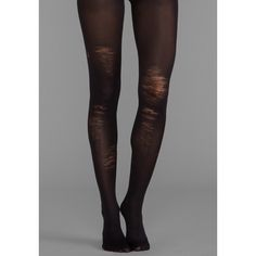 Pretty Polly Shredded Tights ($25) ❤ liked on Polyvore featuring intimates, hosiery, tights, accessories, leggings, socks, black, nylon pantyhose, pretty polly pantyhose and pretty polly stockings