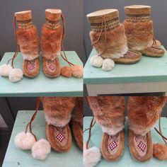 Vintage Inuit Native American Eskimo Mukluks by GlancesBackVintage, $138.99