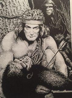 Tarzan, by Frank Hamilton Pulp Art, Silent Film, Tarzan, Savage, Hamilton, Mona Lisa, Lord, Artwork, Work Of Art