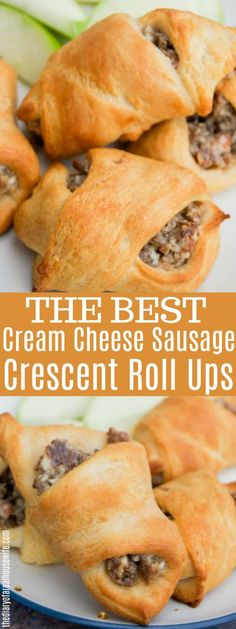 Best Ideas For Breakfast Casserole Sausage Croissant Crescent Rolls Sausage Crescent Rolls, Crescent Roll Appetizers, Cream Cheese Crescent Rolls, Crescent Rools, Croissant, Brunch Recipes, Appetizer Recipes, Breakfast Recipes, Eat Breakfast