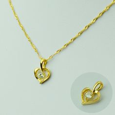 Heart Pendant & Necklaces for Women,, Gold Plated Romantic Jewelry Chain,Gifts for Mom Girlfriend Sister Daughter Girl #045702