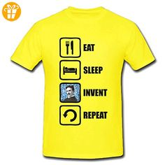 Eat Sleep Invent Repeat Nikola Tesla Graphic Design Men's T-Shirt XX-Large (*Partner-Link)