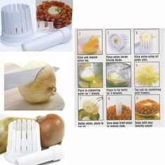 Onion Blossom Maker Kitchen 2in1 Slicer Chopper Cutter Core Remover  Tool