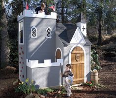 Castle Playhouse traditional outdoor playsets