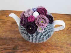 ❥Knit & Crochet Tea Cosies, Mug Hug Snugs and Cuppa Cosies.   Ravelry: woollygirl's Tea Roses for Julia