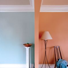 Two shades bring out the best in each other on opposite sides of an architectural arch. | Water.03 (left) and Sprout .02 (right), @colorhousepaint