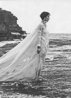 Swept Away | Elle US May 2008 Shalom Harlow by Matthew Brooks Jean Paul Gaultier | Spring 2008 RTW