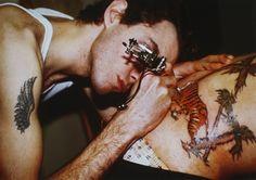 Mark M. Tattooing Mark H., Boston, Mass. by Nan Goldin on artnet Auctions