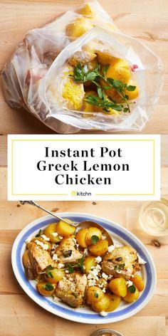 Instant Pot Freezer Meal: Greek-Style Lemon Chicken and Potatoes | Kitchn