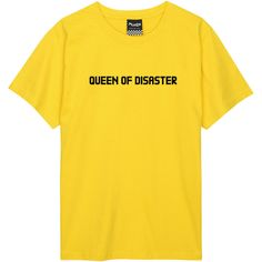 queen of disaster T SHIRT womens mens ladies boys girl tee top hipster... ($13) ❤ liked on Polyvore featuring men's fashion, men's clothing, men's shirts, men's t-shirts, mens hipster t shirts, mens t shirts, mens cotton shirts, mens hipster shirts and mens slogan t shirts