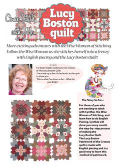 Lucy boston patchwork of the crosses tutorials