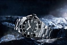 The diver watch by Armand Nicolet. Sporty Line, Stainless Steel bracelet, Stainless steel and ceramic bezel. The style at your wrist. D 20, Stainless Steel Bracelet, Omega Watch, Dating, Sporty, Ceramics, Watches, Accessories, Style