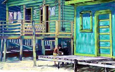 Prints of this are also available at Caribbean Colors Art Cafe on Caye Caulker and also at Belizean Arts located deep inside Fido's Courtyard, San Pedro, Ambergris Caye, Belize. Caye Caulker Belize, Ambergris Caye, City Streets, Trinidad, Destiny, Fine Art America, Caribbean, Wall Art