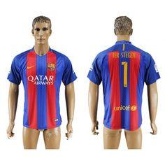 Barcelona 16-17 #Ter Stegen 1 Hjemmebanetrøje Kort ærmer,208,58KR,shirtshopservice@gmail.com