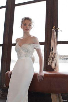 yaniv persy bridal spring 2016 off shoulder sweetheart embellished bodice wedding dress