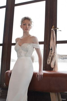 yaniv persy bridal spring 2016 off shoulder sweetheart embellished bodice wedding dress