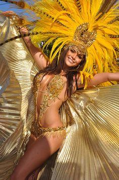 Gabrielle Walcott  - Trinidad carnival Gold costume