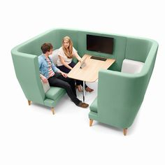 Acoustic soft seating for Third space We can generally break the office workspace up in to three spaces; First, Second and Third spaces. Booth Seating, Office Seating, Sofa Design, Furniture Design, Design Design, Corporate Interiors, Office Interiors, Corporate Offices, Office Workspace