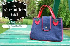Sew Can Do: Make a fun Whim of Trim bag with cute detailing (how to make the pattern included!).