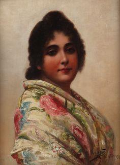 European Paintings, Cadiz, Amazing Art, 19th Century, Mona Lisa, That Look, Landscape, Classic, Pretty