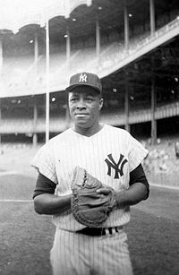 Elston Howard - the first African-American to play for the Yankees.