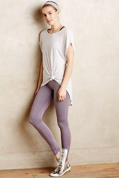 Jacquard Performance Leggings by Beyond Yoga Lavender from Anthropologie. Saved to Pants 👖. Striped Tee, Sport Outfits, What To Wear, Active Wear, Anthropologie, Leggings, Clothes For Women, My Style, Stylish