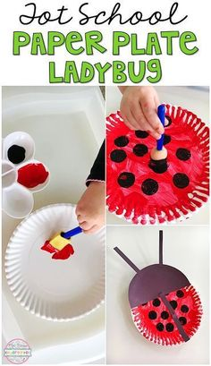 School: Insects Super easy paper plate ladybug craft perfect for insect/bug theme in tot school, preschool, or kindergarten.Super easy paper plate ladybug craft perfect for insect/bug theme in tot school, preschool, or kindergarten. Daycare Crafts, Preschool Activities, Crafts For Kids, Preschool Bug Theme, Kindergarten Crafts Summer, Reptiles Preschool, Spring Toddler Crafts, Preschool Arts And Crafts, Spring Crafts
