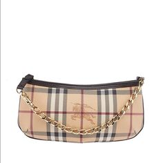 """Burberry haymarket merc price only-no trades Brand new with authenticity card and dustbag•  Product details  Burberry Haymarket Clara Beige Coated Wristlet *Exterior Condition: new Interior Condition:  New Includes: Dust Bag Material: Canvas Color: Beige Hardware: Gold-Tone Measurements (L x W x H): 9.5 x 2 x 5 Strap Drop: 6"""" Handle Drop: None Exterior Pockets: Interior Pockets: Interior Lining: Nylon Interior Color: Brown Date/Authenticity Code: Origin: Italy Burberry Bags Clutches…"""