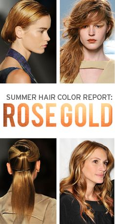 Blonde Hair Color Craze : Rose Gold – Welcome My World 2015 Hairstyles, Spring Hairstyles, Pretty Hairstyles, Julia Roberts Hair, Red Hair Color, Blonde Color, Just Dream, Rose Gold Hair, Blonde Hair