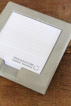 Het Noteboompje notitieblaadjeshouder vaderdag