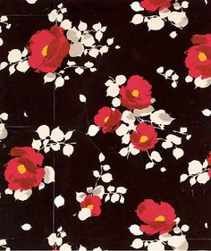 Beautifully coloured and realized floral by Raoul Dufy for Bianchin-Férier. The man simply wasn't messing around.