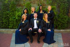 Groom and bridesmaids wearing suit jackets #Michiganwedding #Michiganwedding #Chicagowedding #MikeStaffProductions #wedding #reception #weddingphotography #weddingdj #weddingvideography #wedding #photos #wedding #pictures #ideas #planning #DJ #photography #bride #groom