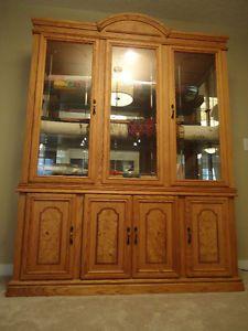 Beautiful Light Oak 1 Hutch And China Cabinet Edmonton Area Image Kitchen