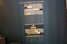 brass temple weaving 2013 paper, brass, cotton/ nightwood