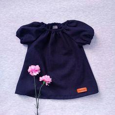 linen girl dress, girl dress summer, linen baby dress, navy baby dress, first girl dress, baby girl shower gift, linen girls clothes,