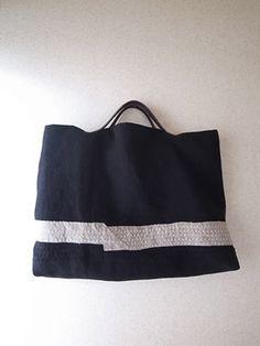 コラージュと刺し子のbag(ミナペルホネン)