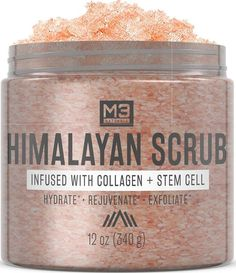 Enjoy exclusive for Naturals Himalayan Salt Scrub Infused Collagen Stem Cell All Natural Body Face Exfoliating Facial Wash Blackheads Acne Scars Pore Minimizer Exfoliator Anti Cellulite Souffle Skin Care online - Toplikestylish Natural Body Scrub, All Natural Skin Care, Natural Makeup, Natural Beauty, Lychee Fruit, Burt's Bees, Body Acne, Face Wrinkles, Korean Makeup